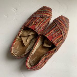 TOMS Striped Wool Slip On sz 7